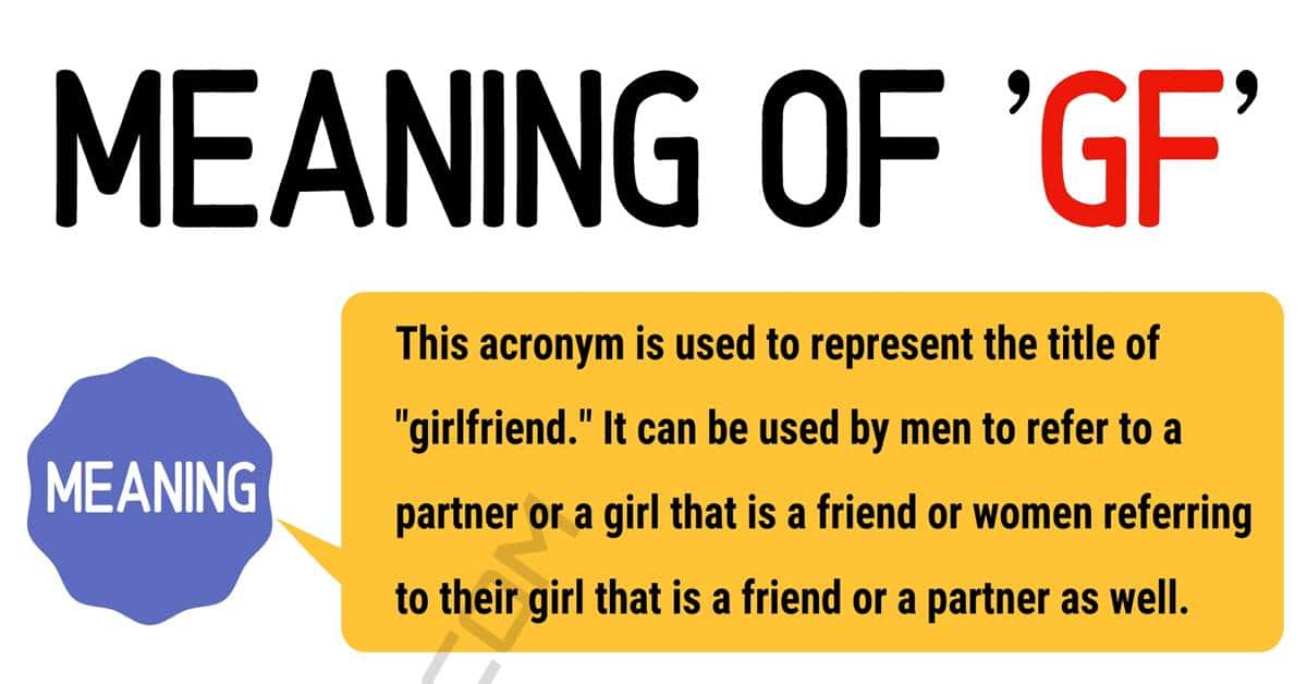 """""""GF"""" Meaning 