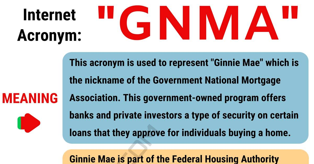 """GNMA Meaning: What in The World Does the Acronym """"GNMA"""" Mean? 1"""