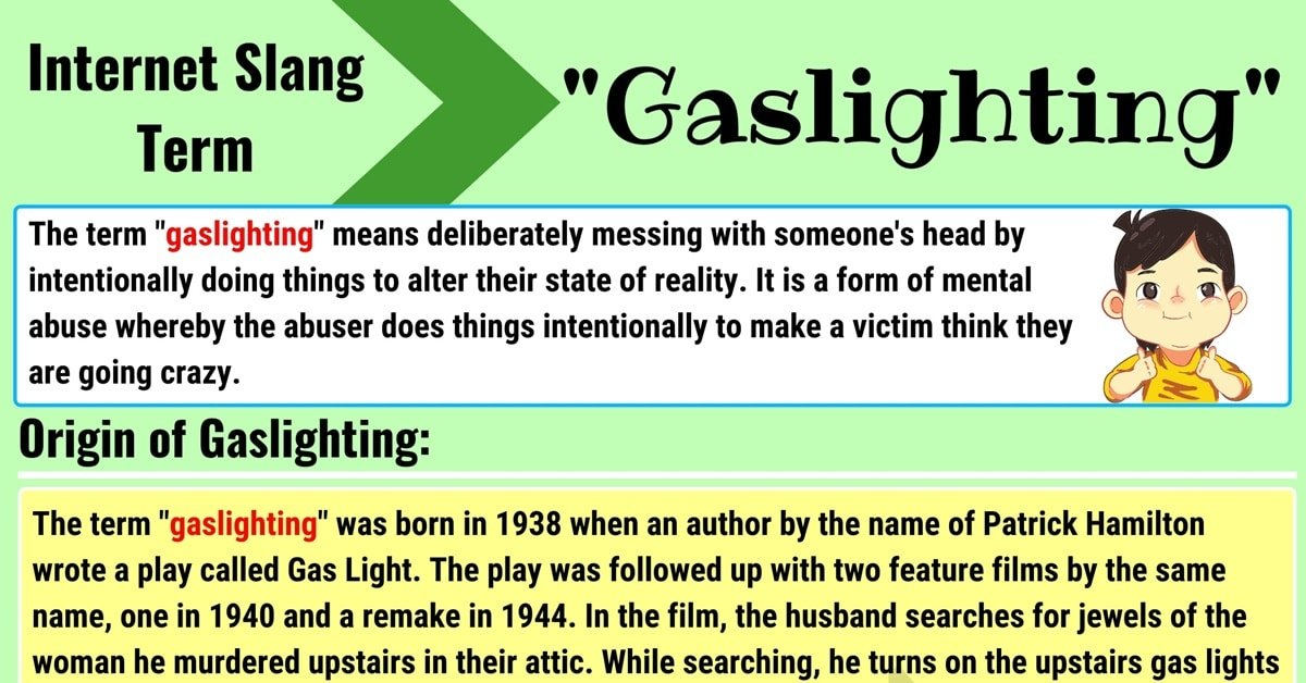 """Gaslighting"" Meaning 