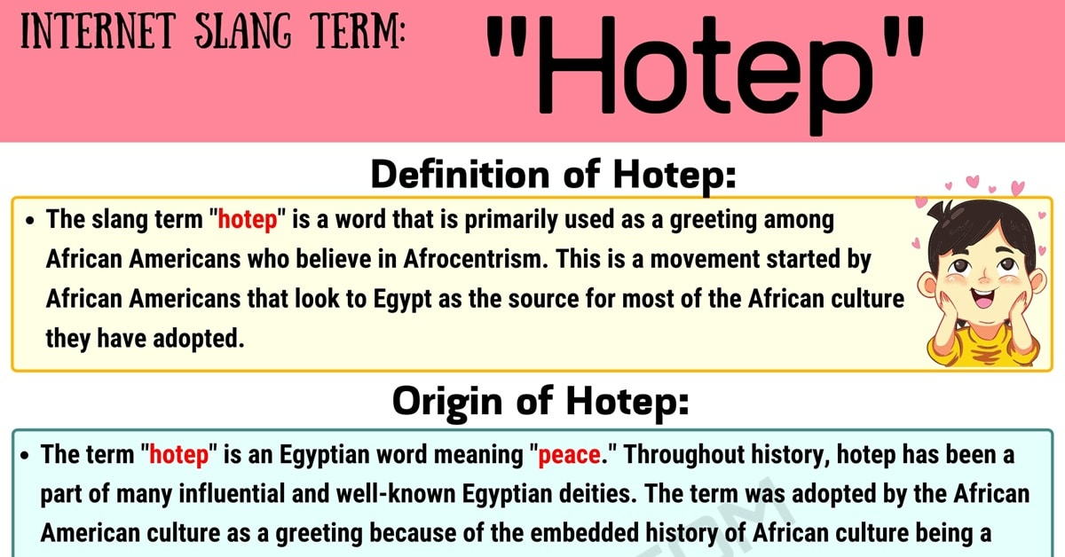Hotep Meaning: What This Useful Slang Term Stands for on Social Media 1