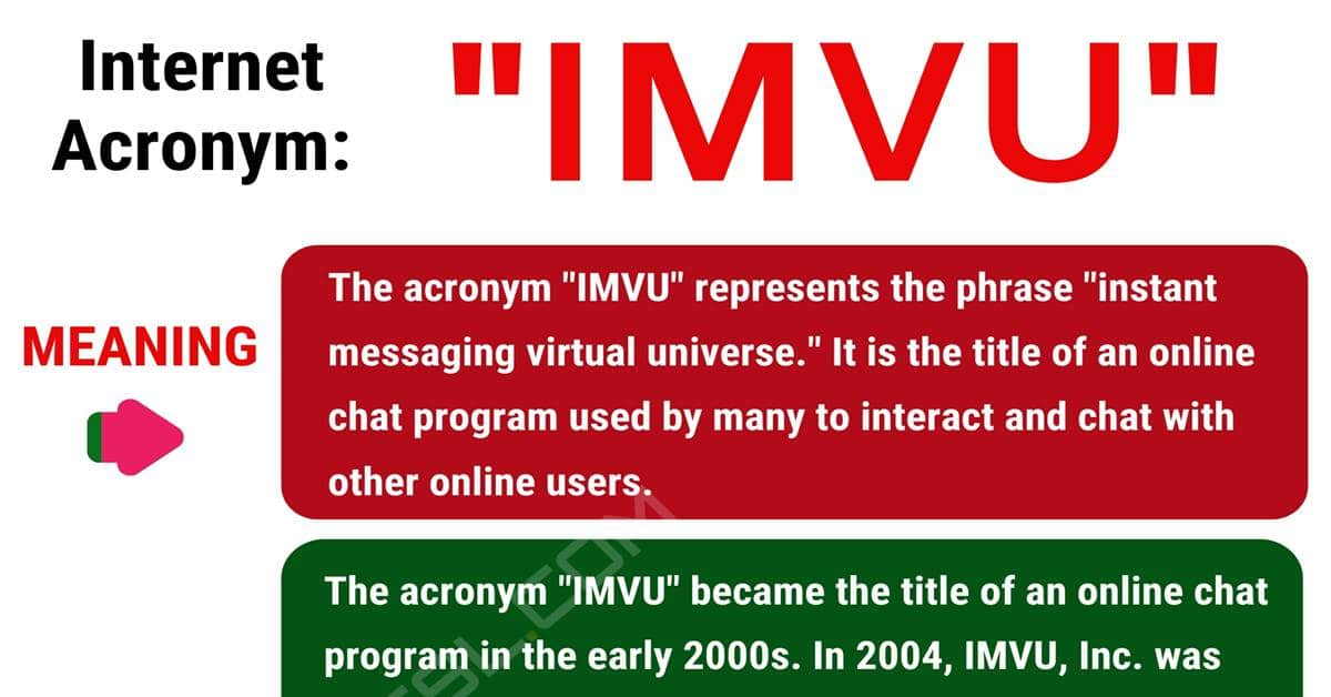 IMVU Meaning: What Does IMVU Mean and Stand For? 1