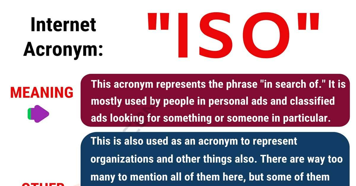 ISO Meaning: Definition and Examples of this Popular Acronym? 1