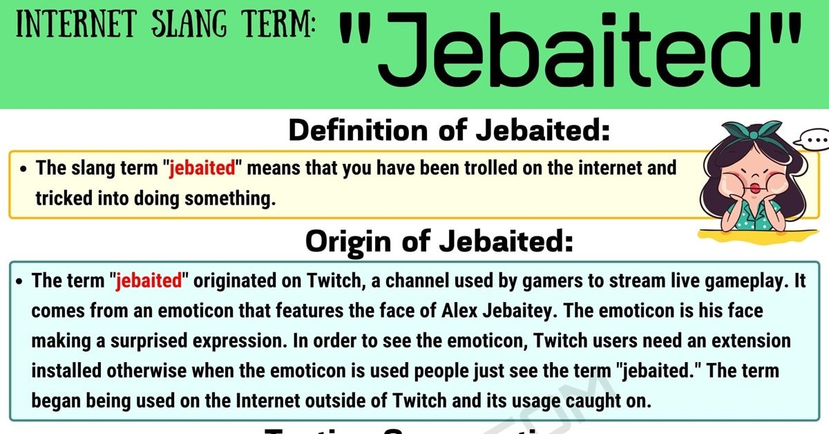 Jebaited Meaning: What Does the Popular Slang Term 'Jebaited' Mean? 1