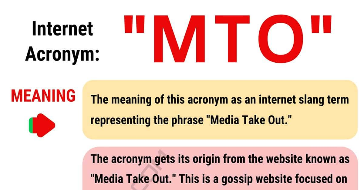 MTO Meaning: What Does this Interesting Acronym MTO Stand For? 1