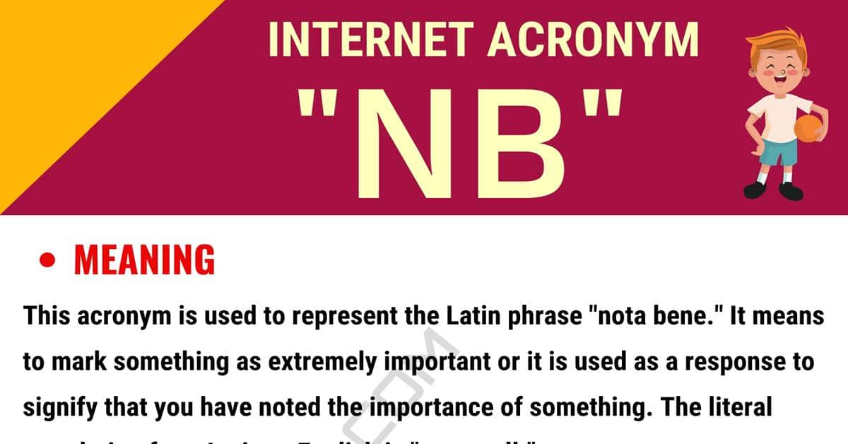 "NB Meaning: What Does the Useful Term ""NB"" Stand For? 1"
