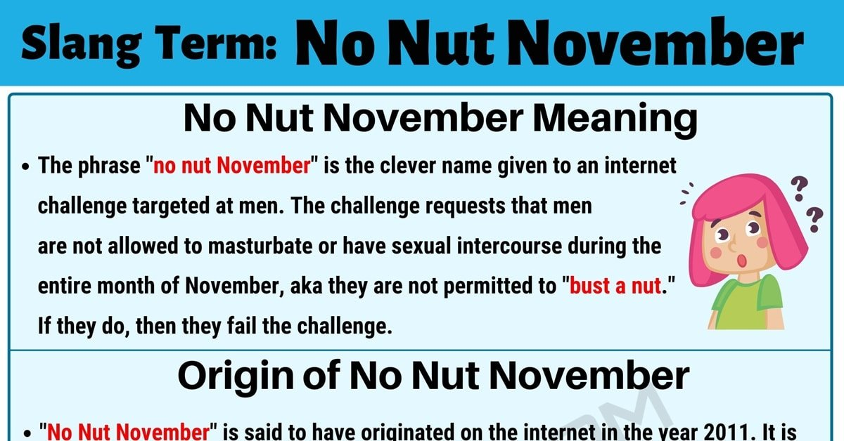 No Nut November: What is the Meaning of this Useful Slang Term? 1