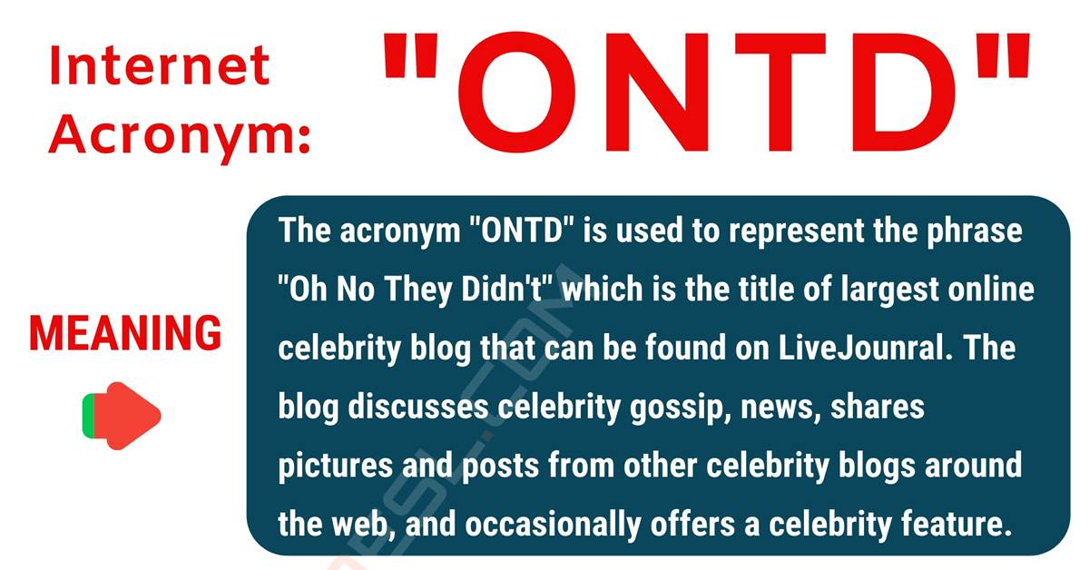 ONTD Meaning: What Does ONTD Stand for? with Interesting Conversations 1