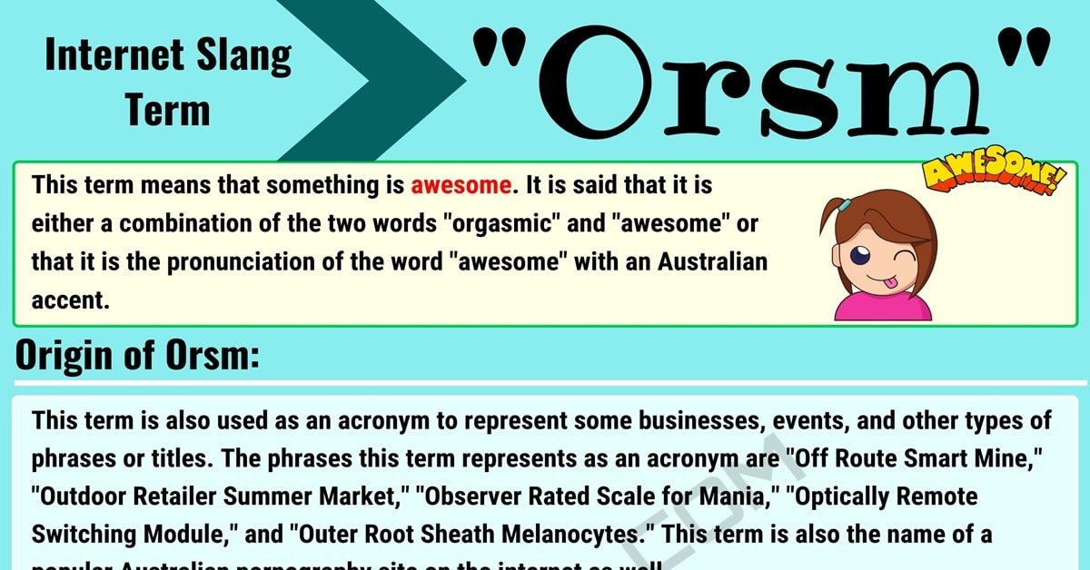 """Orsm Meaning: How to Use the Awesome Slang Term """"Orsm""""? 4"""