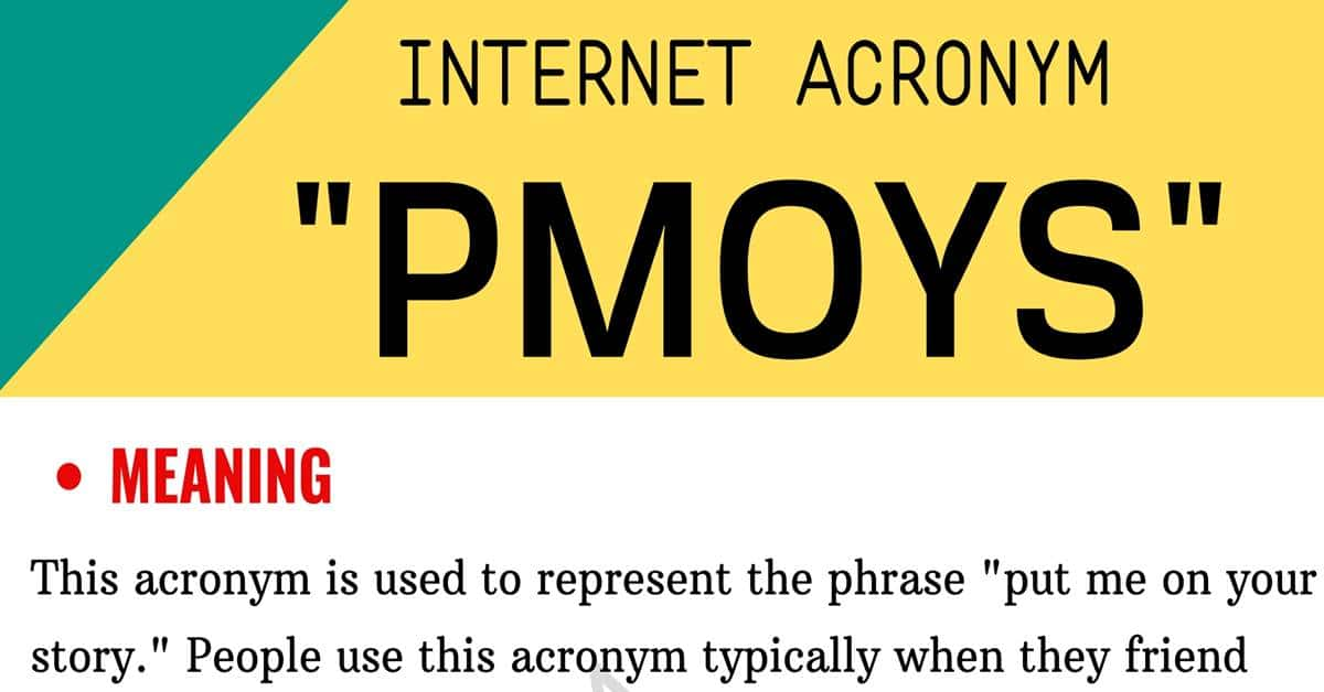 "PMOYS Meaning: What Does the Trendy Term ""PMOYS"" Mean and Stand For? 1"