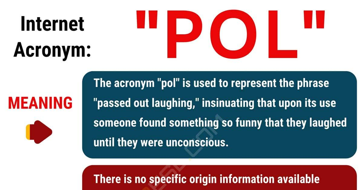 "POL Meaning: What Does the Happy Acronym ""POL"" Mean? 1"