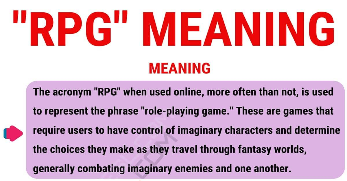 What Is RPG? What Does RPG Mean? with Useful Examples 1