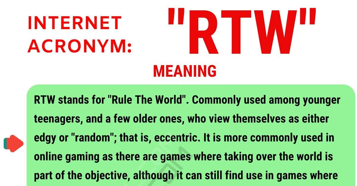 RTW Meaning: What Does RTW Stand For? with Useful Conversations 1
