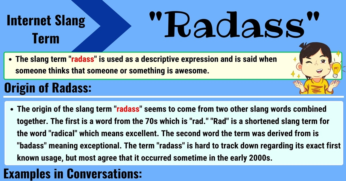 """Radass Meaning: Learn the Definition of the Awesome Slang Term """"Radass"""" 1"""