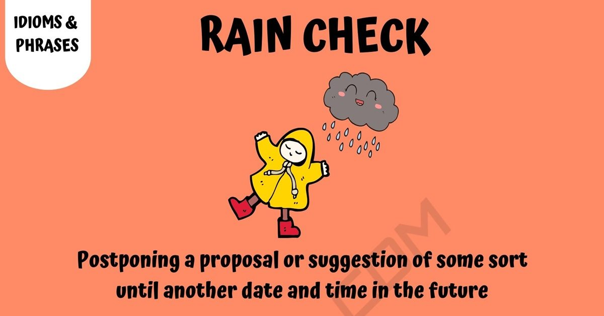 Rain Check: Learn The Meaning Of Rain Check With Helpful