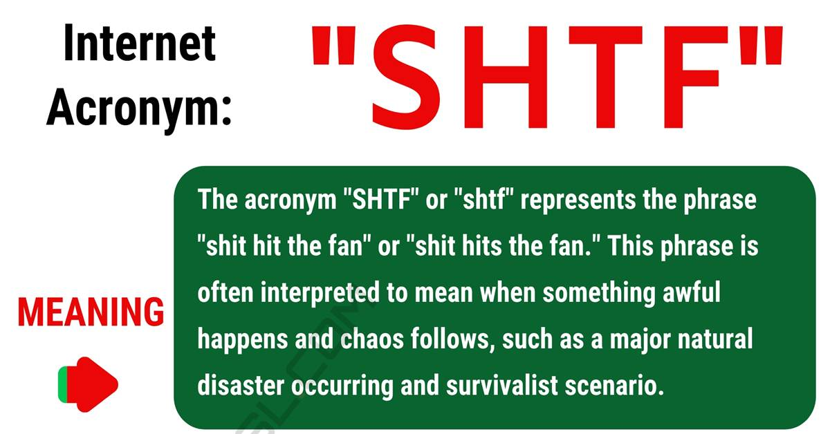 """SHTF Meaning: What Does this Popular Acronym """"SHTF"""" Mean? 1"""