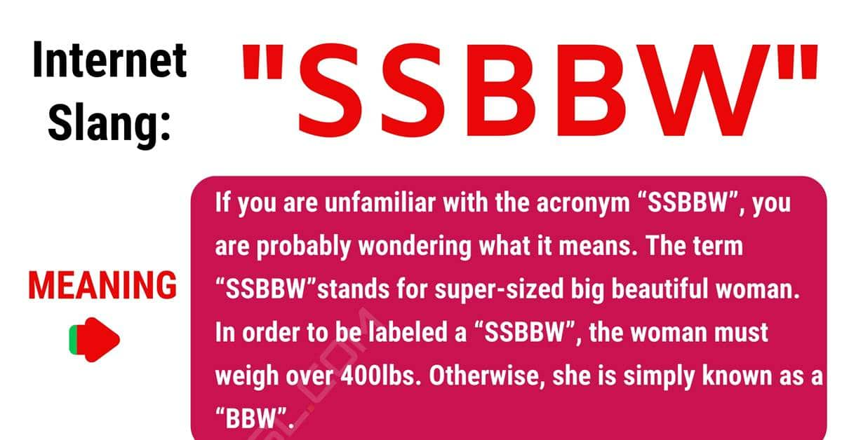 SSBBW Meaning: How to Use the Trendy Term SSBBW Correctly? 1