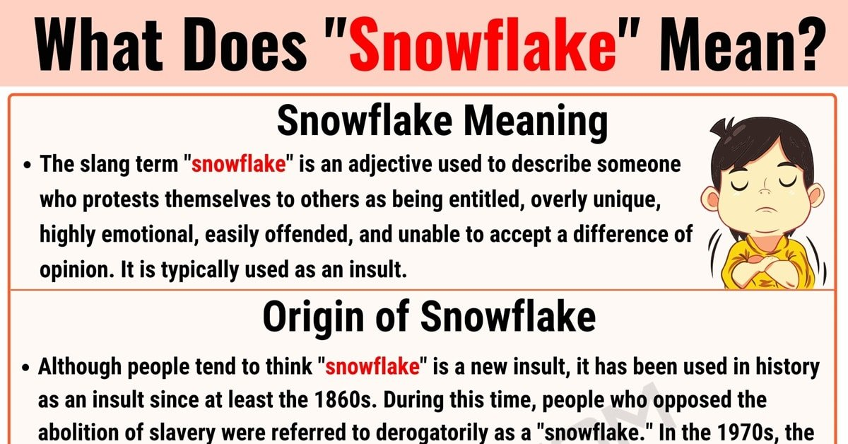Snowflake Meaning: The Definition of the Useful Slang Term 'Snowflake' 1