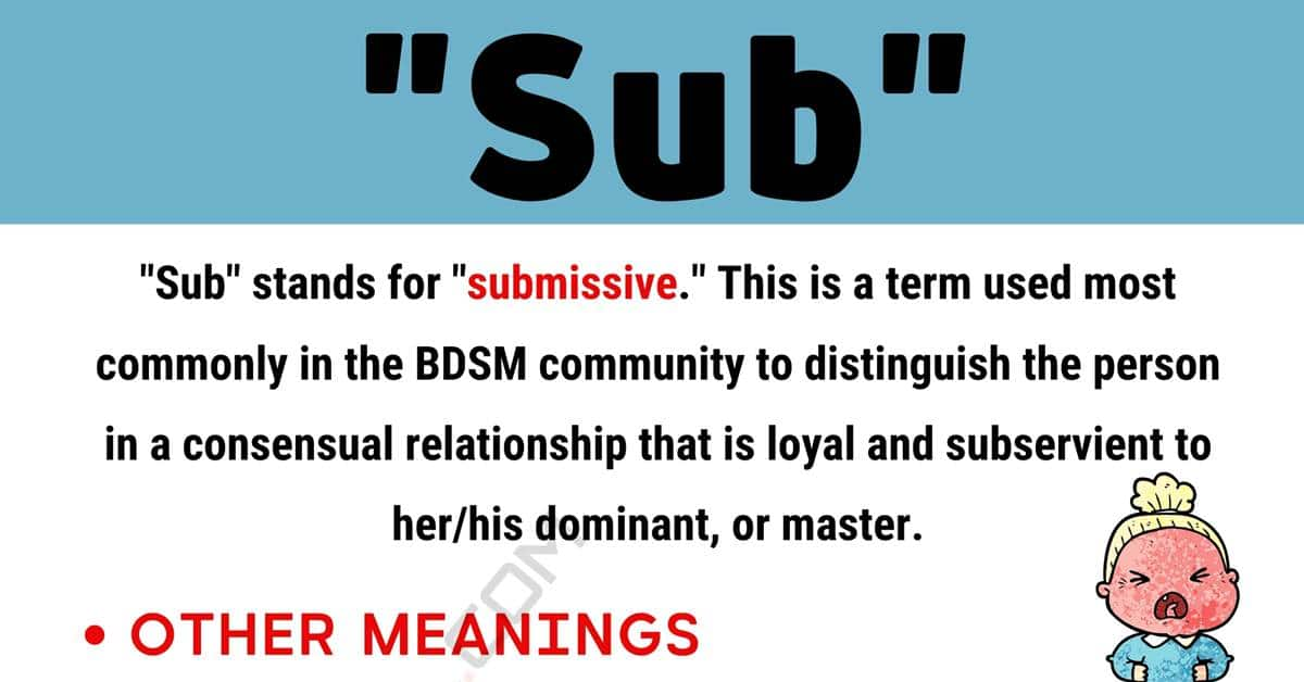 """""""Sub"""" Meaning 