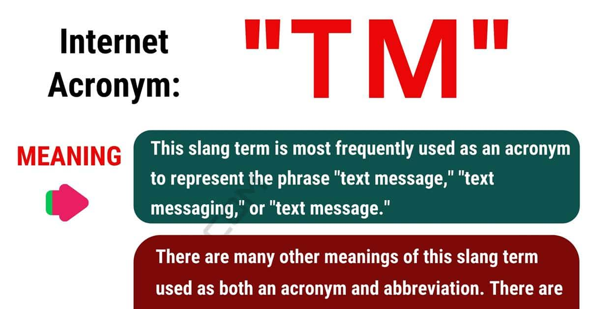 TM Meaning: What Does This Popular Acronym Stand For? 1
