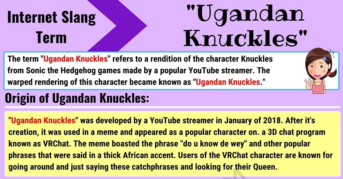 Ugandan Knuckles Meaning with Useful Examples in English 1