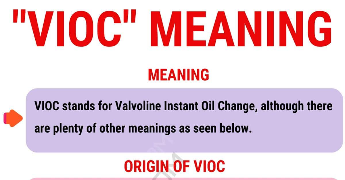 VIOC Meaning: Do You Know What the Useful Term VIOC Stands For? 1