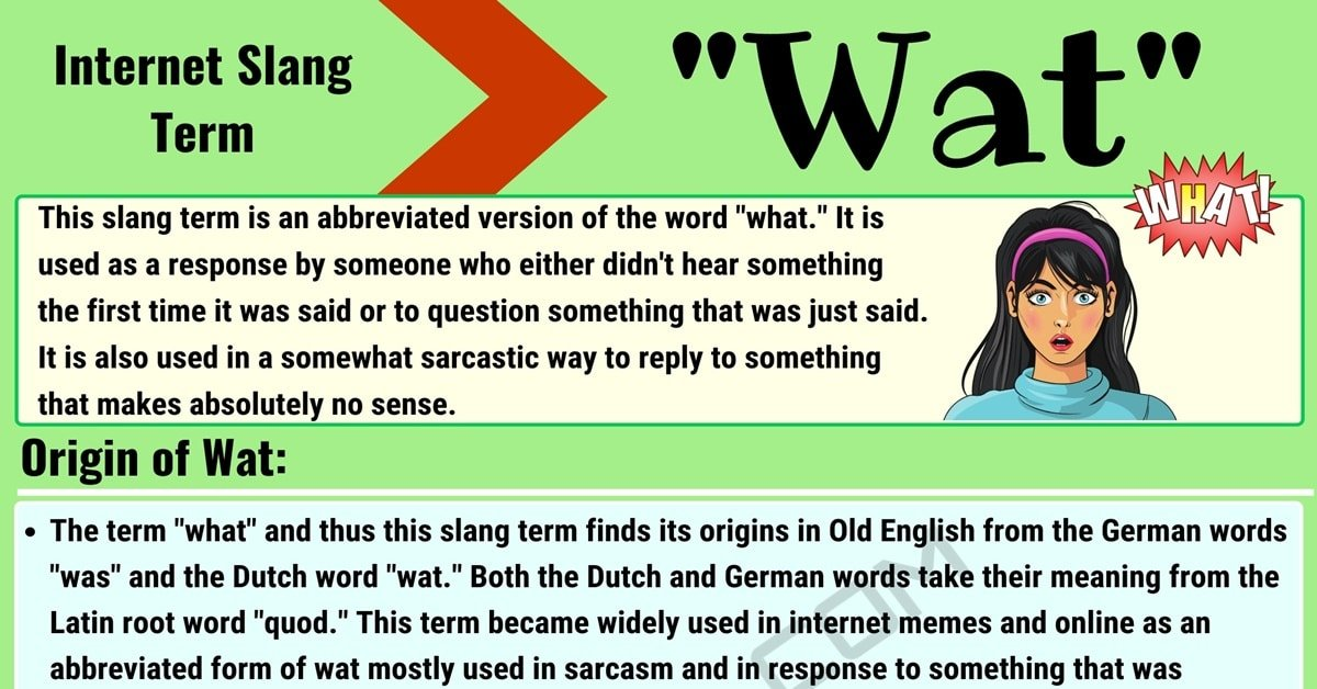 Wat Meaning: What Does the Term 'Wat' Mean in Texting and Online Slang? 1