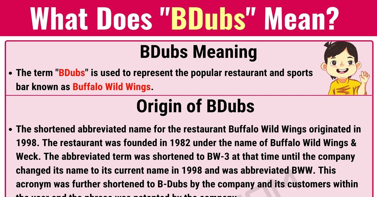 BDubs Meaning: What Does BDubs Mean? with Useful Conversations 1