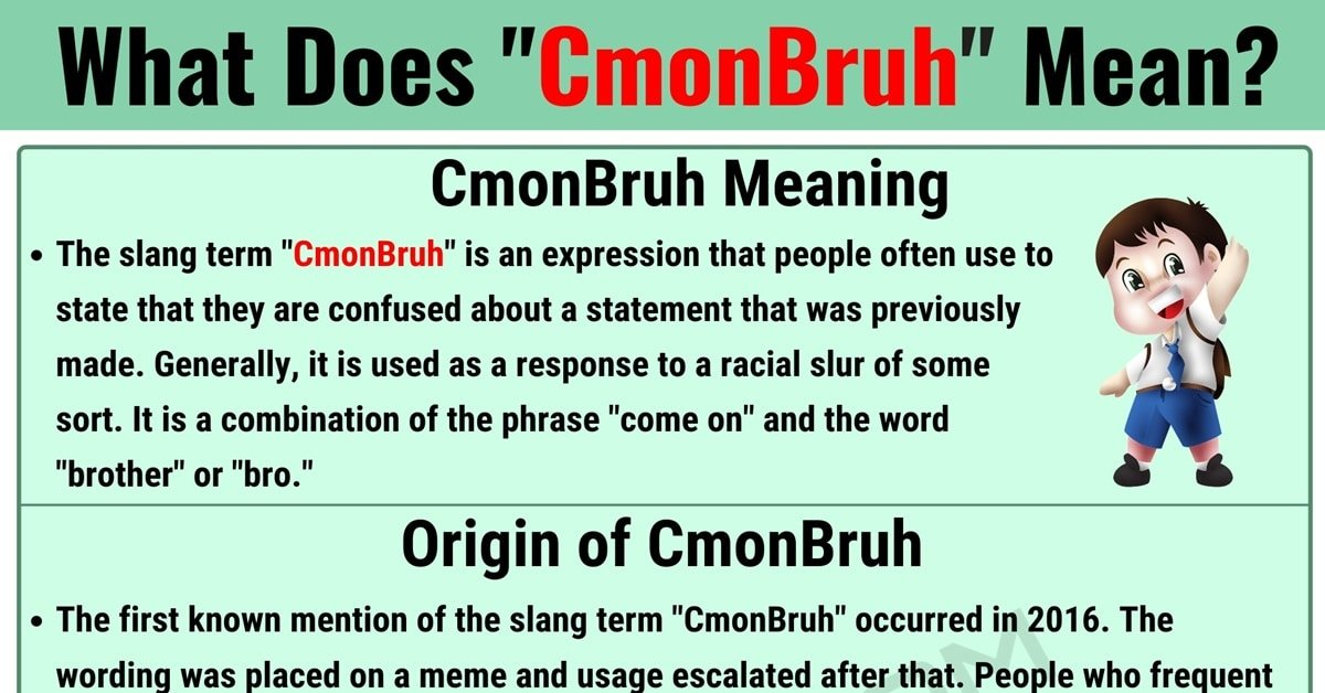 CmonBruh Meaning: What Does CmonBruh Mean? (with Useful Conversations) 1