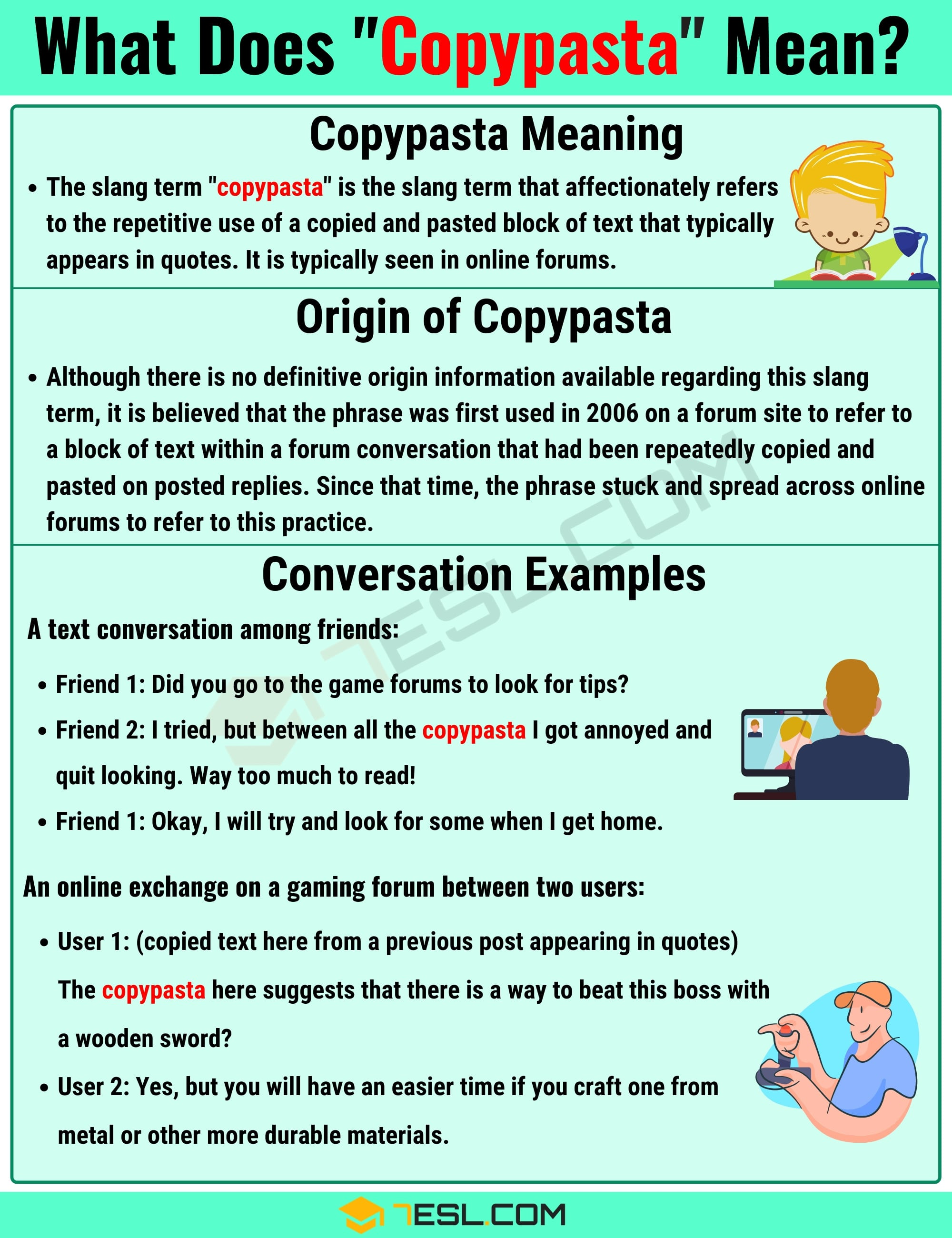"Copypasta"" Meaning With Useful Example Sentences - 7 E S L"