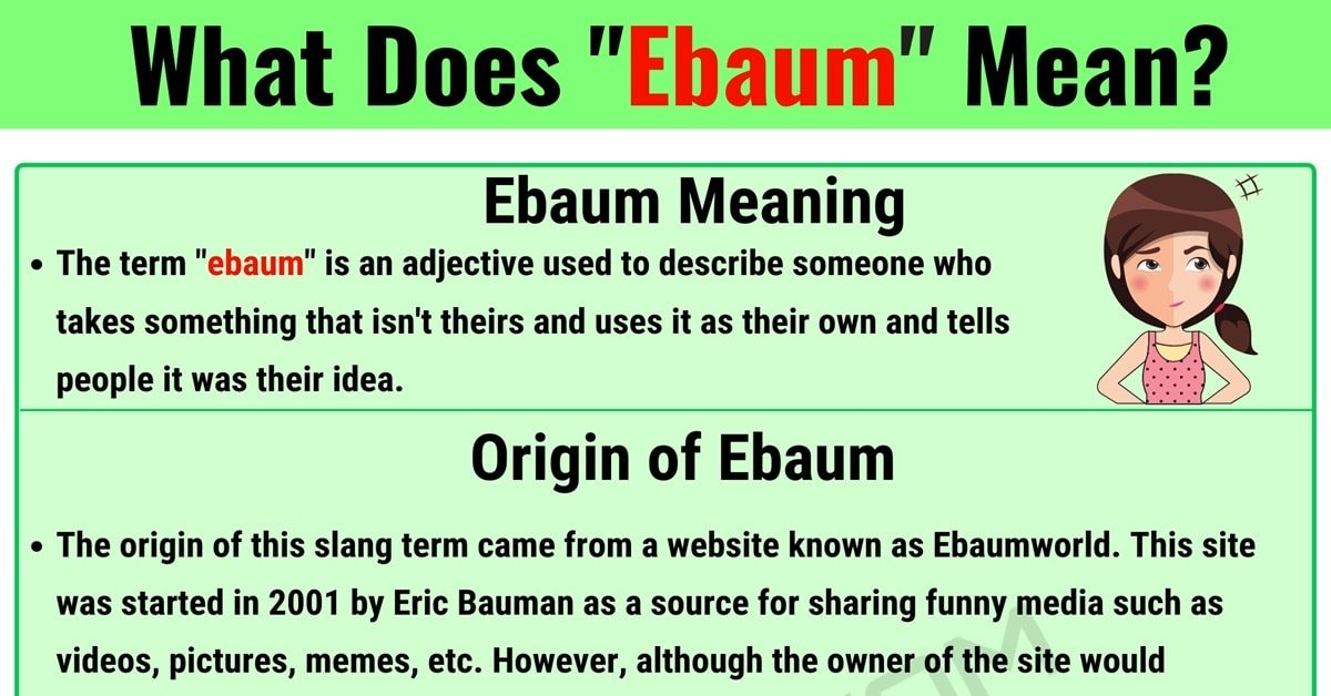 """Ebaum Meaning: What Does the Useful Slang Term """"Ebaum"""" Mean? 1"""