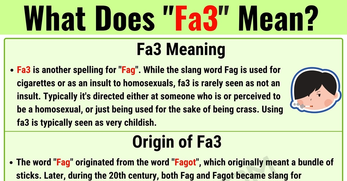 "Fa3 Meaning: What Does the Useful Slang Term ""Fa3"" Mean in English? 1"
