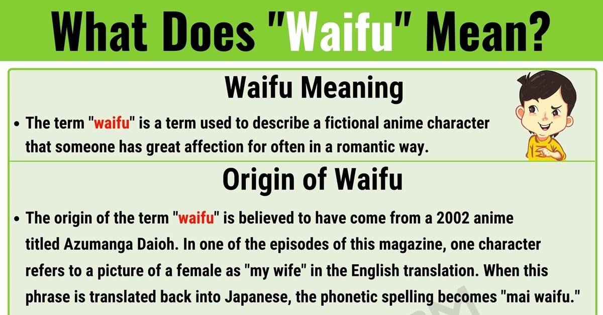 Waifu Meaning: What Does Waifu Mean? with Interesting Examples 1