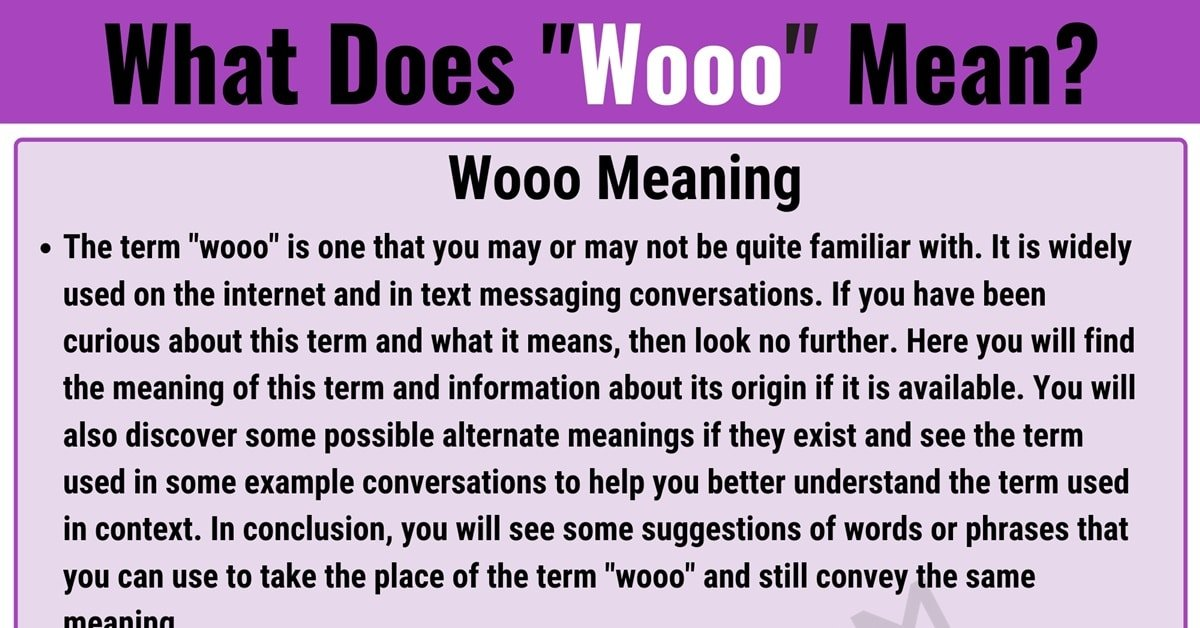 Wooo Meaning: What Does Wooo Mean? with Useful Conversations 1