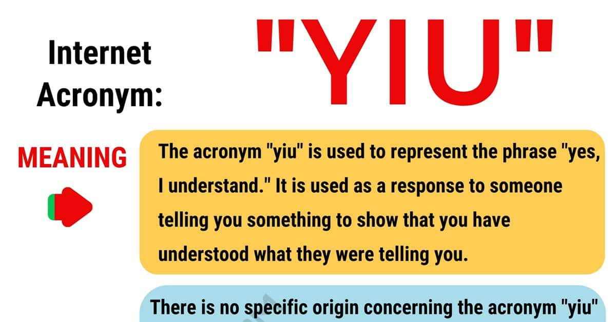 YIU Meaning: What Does YIU Mean and Stand For? 1