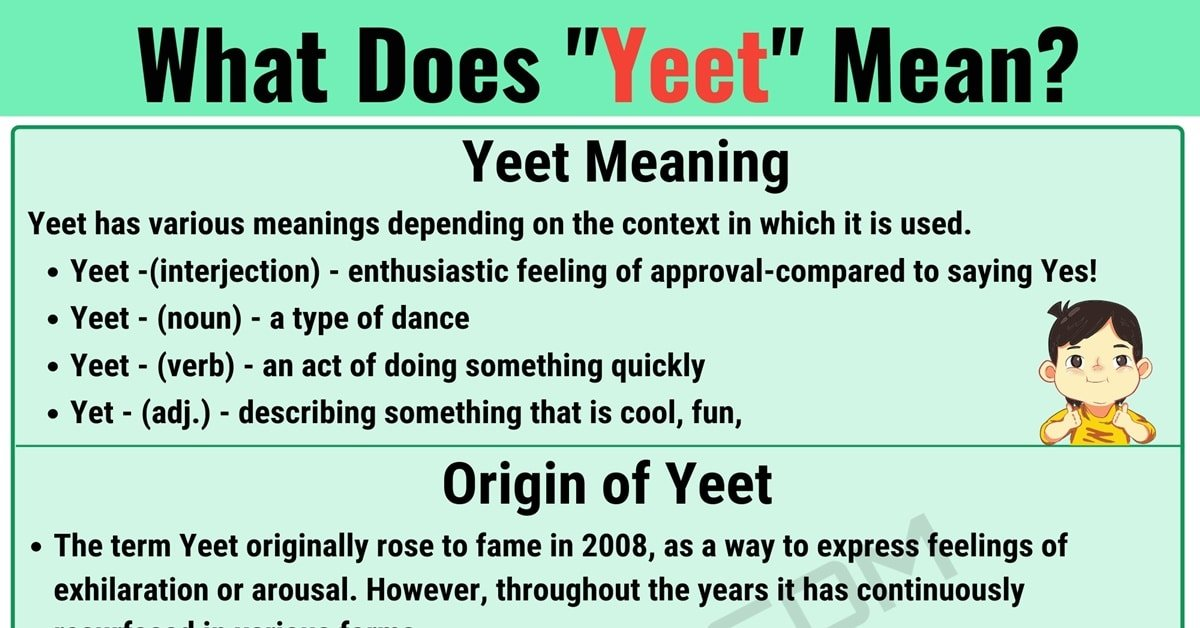 """Yeet Meaning: What is the Meaning of the Interesting Slang Word """"Yeet""""? 1"""