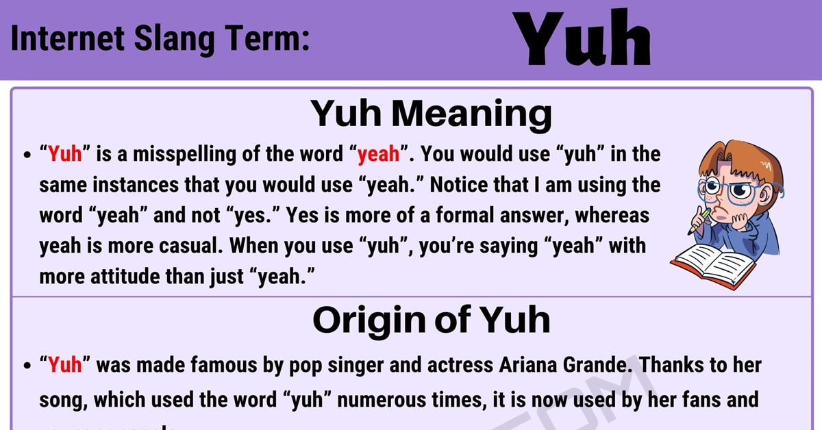 "What Does ""Yuh"" Mean in Texting? 2"