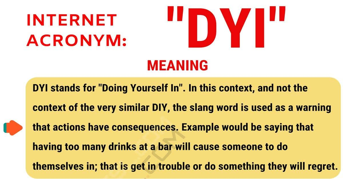 DYI Meaning: What Does the Useful Acronym DYI Stand For? 1