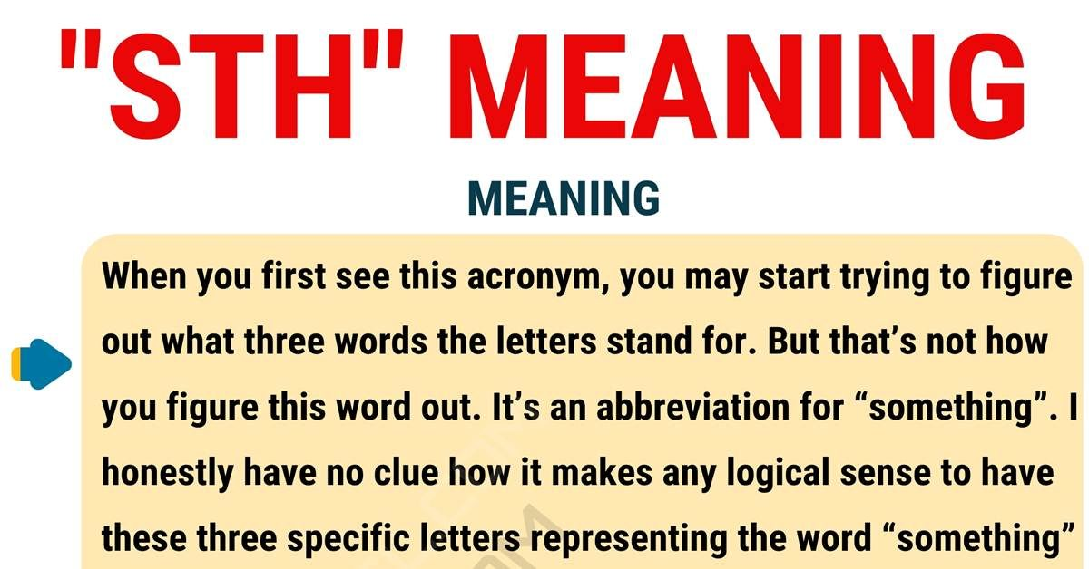 STH Meaning: What Does STH Stand for? with Useful Examples 1