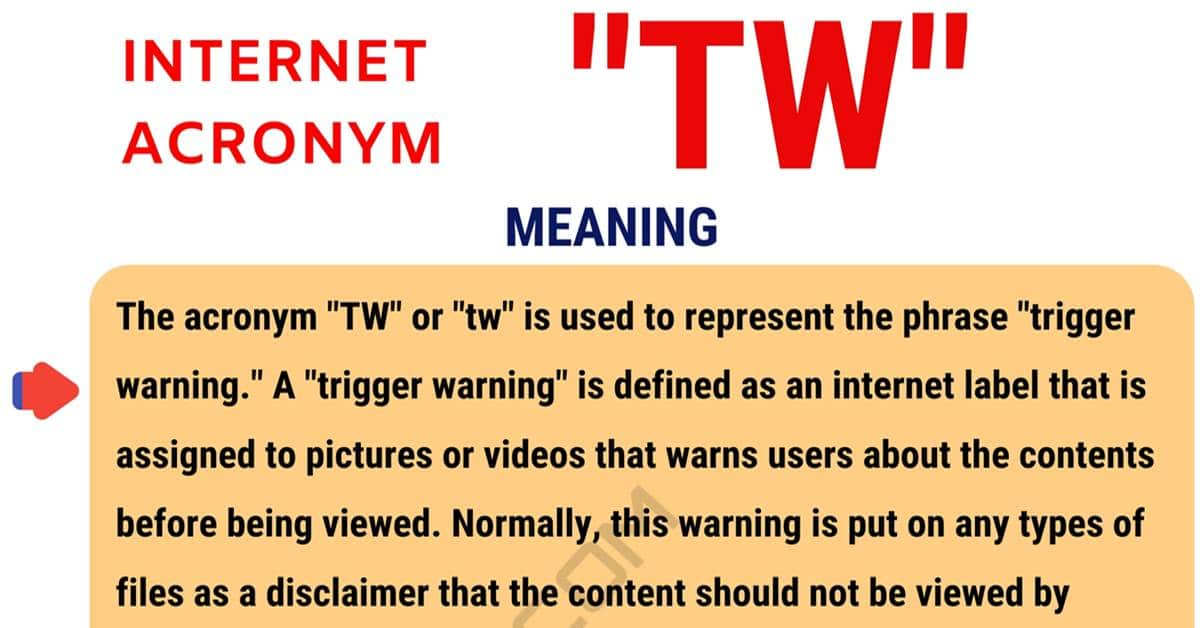 """TW Meaning: What Does the Interesting Term """"TW"""" Mean? 1"""