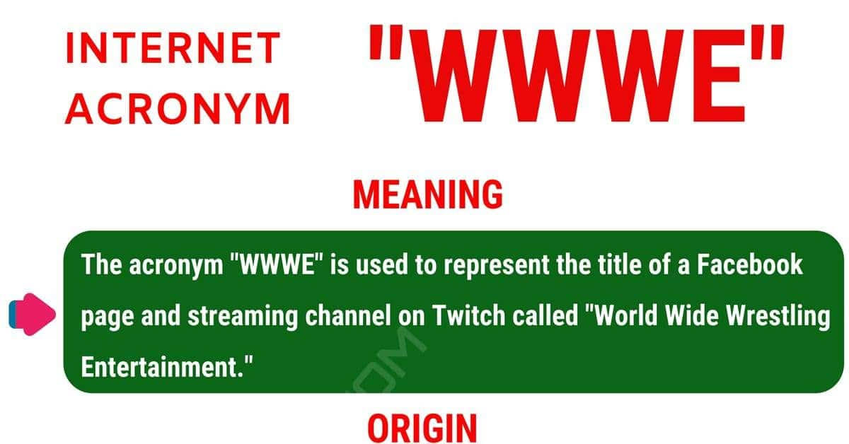 WWWE Meaning: What Does WWWE Stand For (with Useful Examples) 1