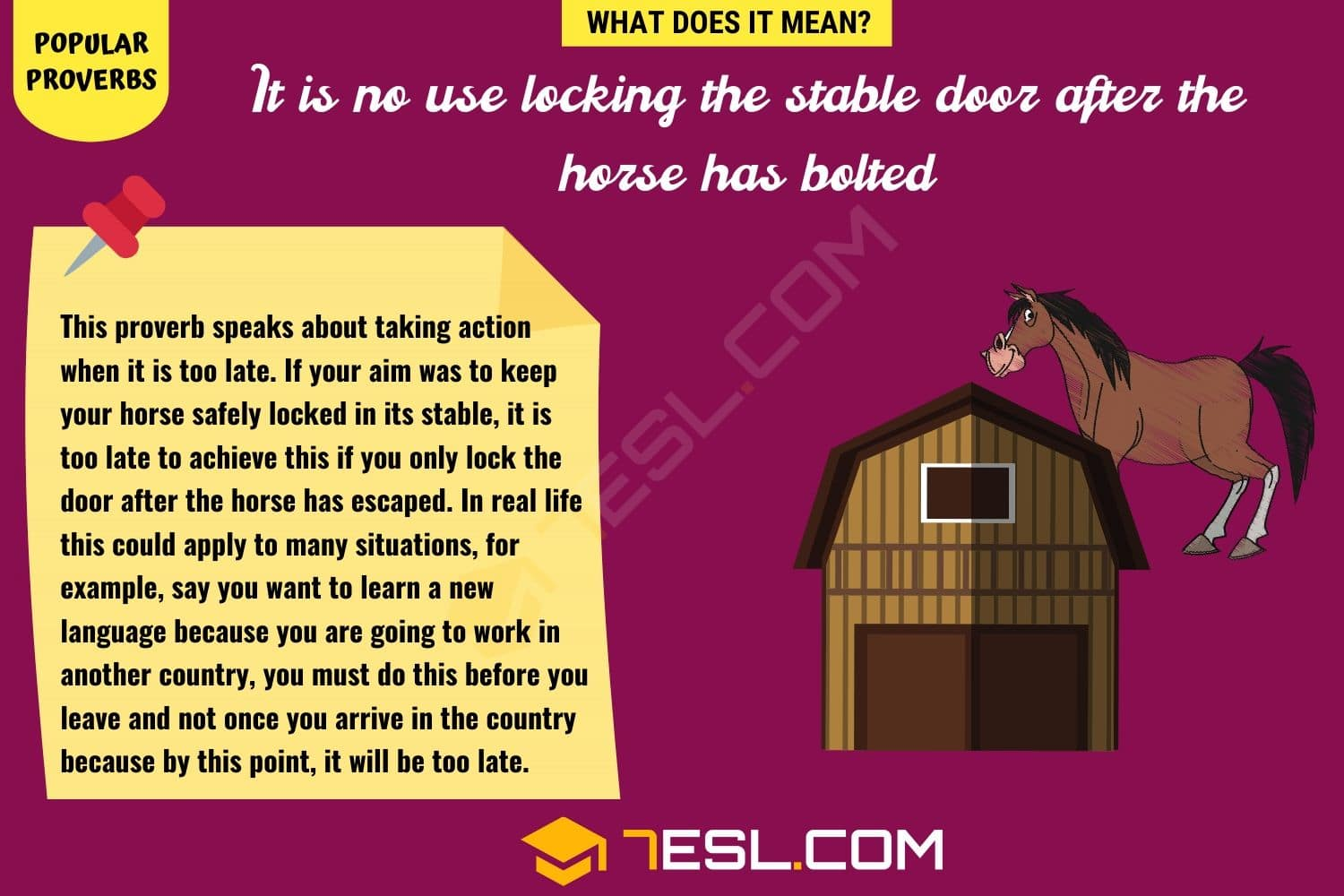 It is no use locking the stable door after the horse has bolted