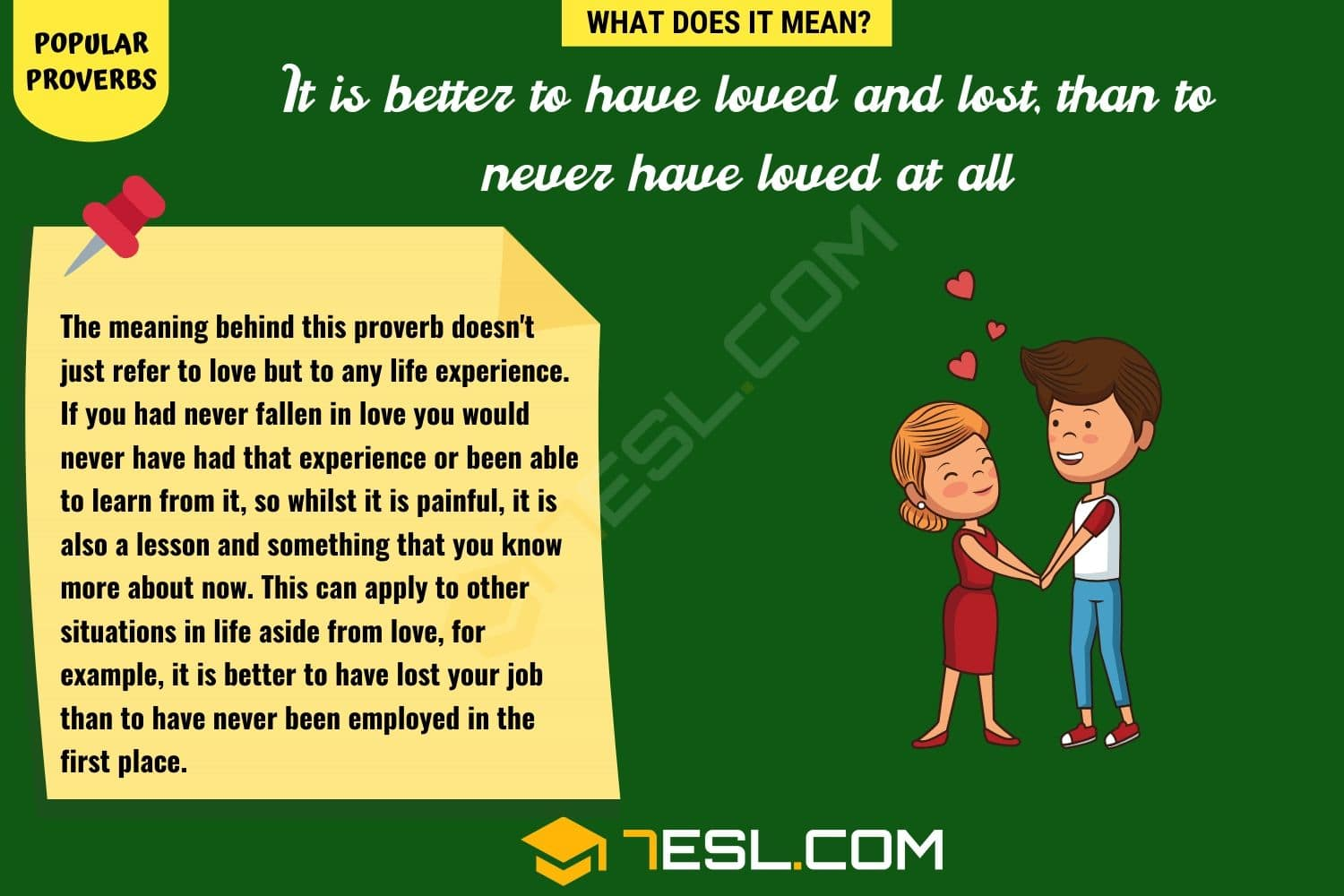 It is better to have loved and lost, than to never have loved at all