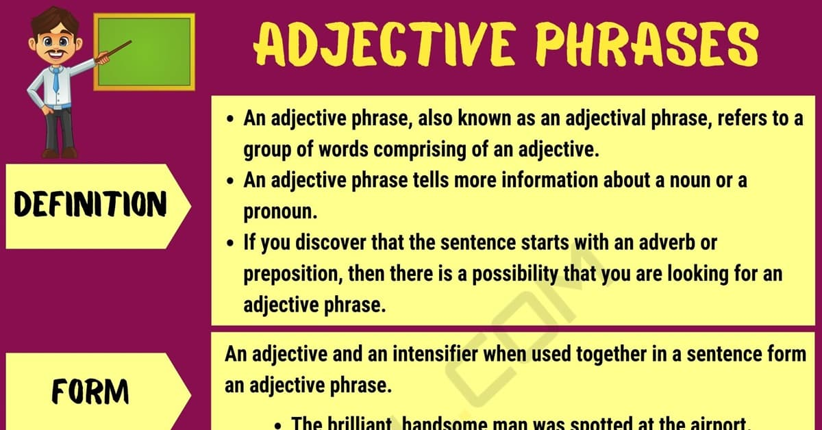 Adjective phrase examples yahoo dating. Adjective phrase | what is.