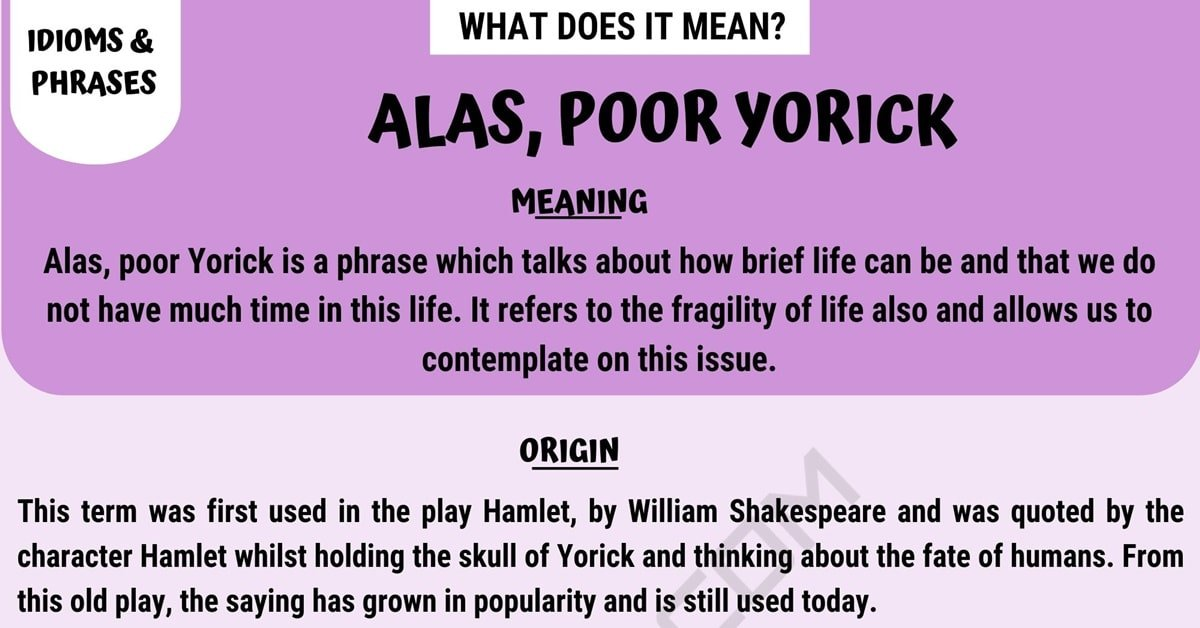 Alas, Poor Yorick