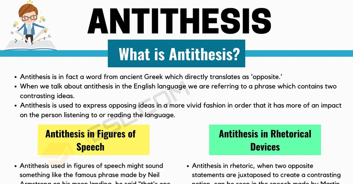 Antithesis Definition & Examples in Speech and Literature 1