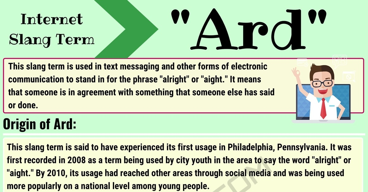 """Ard"" Meaning 