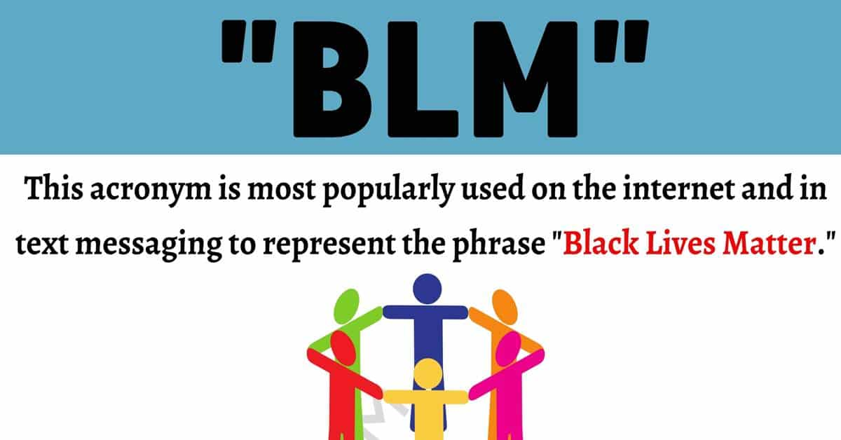 """""""BLM"""" Meaning 