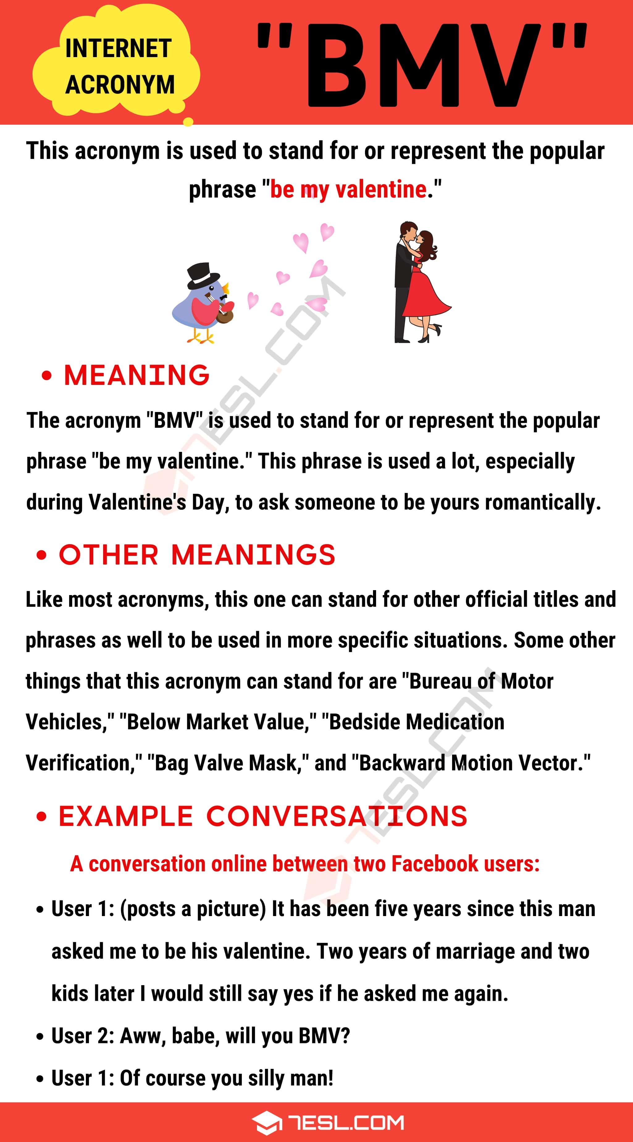 "BMV Meaning: Definition and Examples of the Popular Acronym ""BMV"""