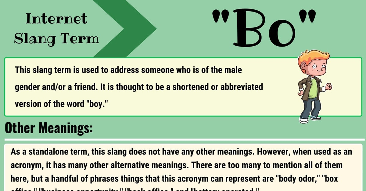"""""""Bo"""" Meaning 