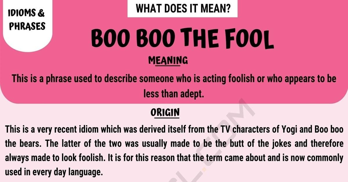 Boo Boo the Fool